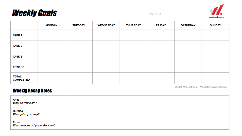 Weekly Goals IMG